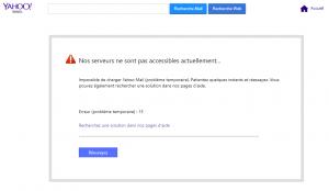 yahoo mail serveurs pas accessibles actuellement