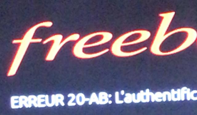 freebox erreur