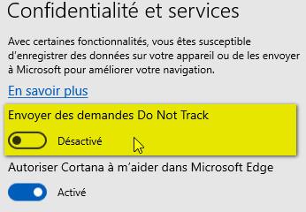 do not track edge