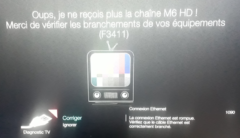 message d'erreur Bbox F3411