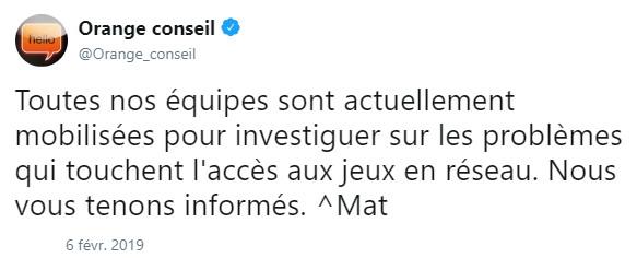tweet panne orange panne 6 février 2019